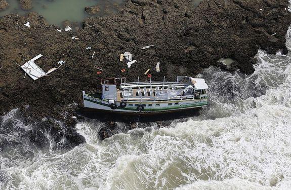 Acidentes com embarcações no Brasil aumentam 12,63% em 2017
