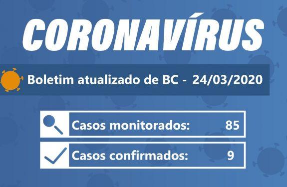 Atualização Boletim - 24/03/2020 Balneário Camboriú chega ao nono caso de Coronavírus