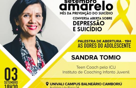 BC: Suicídio entre jovens é tema do Setembro Amarelo da CDL no dia 3 de setembro