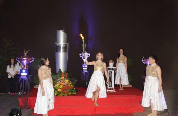 Brusque faz Cerimônia de acendimento do Fogo Simbólico dos Jasc