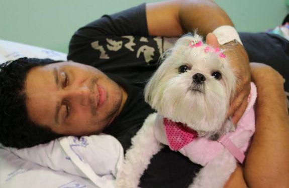 Cão Terapia anima tarde de pacientes no Hospital Ruth Cardoso