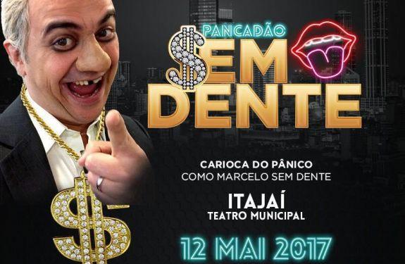 Carioca do Pânico apresenta show de comédia no Teatro Municipal