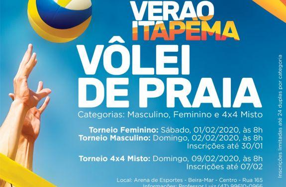 Circuito de Vôlei de Praia de Itapema está com inscrições aberta
