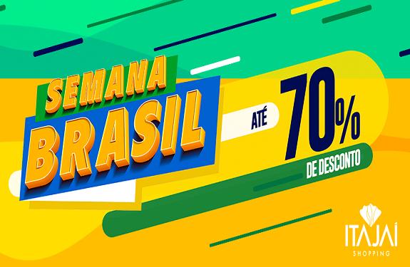 Com descontos de até 70%, Itajaí Shopping participa da Semana do Brasil