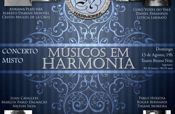 Concerto Músicos em Harmonia ocorre neste domingo em BC