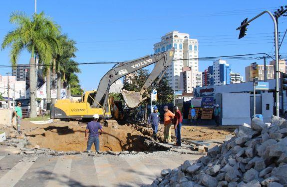 Cruzamento entre as avenidas Joca Brandão e Sete de Setembro será interditado para implantação de galeria