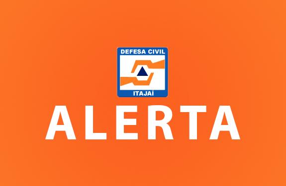 Defesa Civil de Itajaí está em ALERTA em função das chuvas que atingem a região