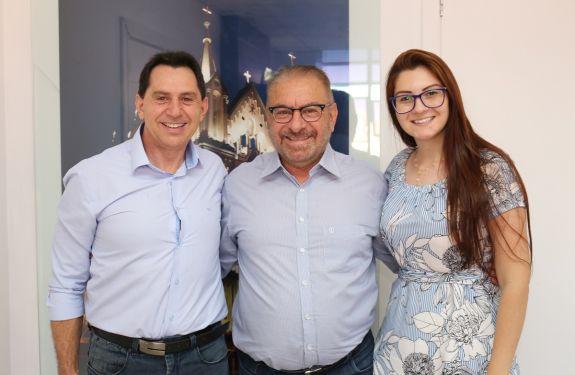 Deputados estaduais de Itajaí eleitos no último pleito visitam a Prefeitura