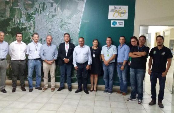 Diretoria da ANTAQ visita portos de Santa Catarina.