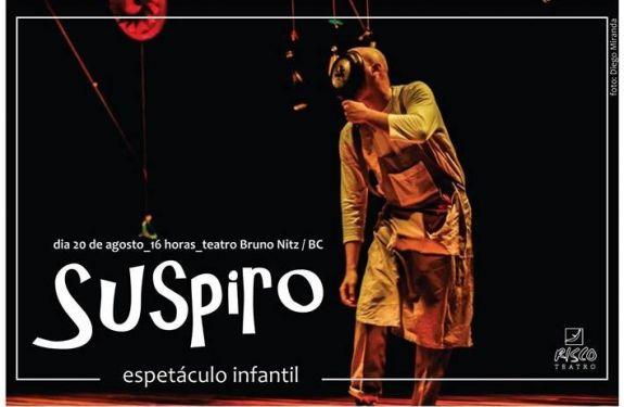 Dois espetáculos serão apresentados no Teatro Bruno Nitz domingo