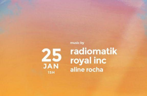 Duo Radiomatik comanda o sunset do Habbitat, na Praia Brava...