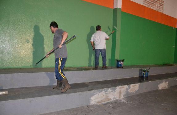 Ginásio de Esportes do Conde Vila Verde em Balneário Camboriú recebe reforma