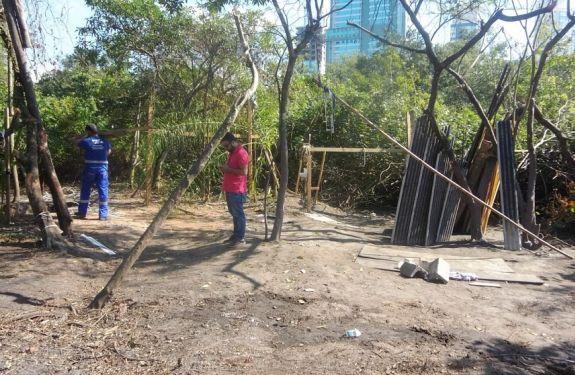 Grupo de Proteção Ambiental demoliu acampamento em região de manguezal