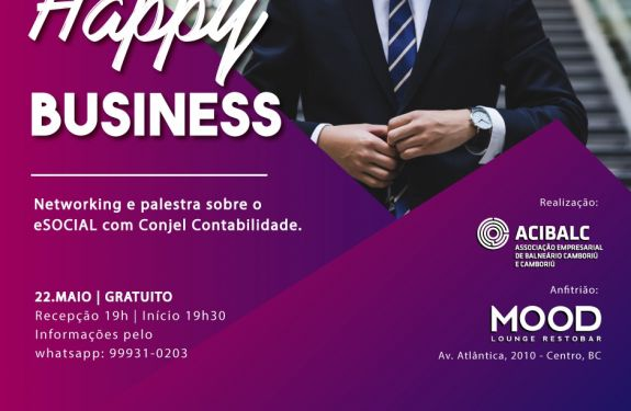 Happy Business Acibalc trará bate-papo sobre eSocial