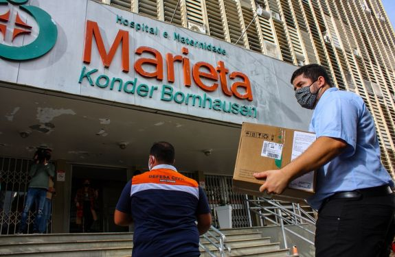 Hospital Marieta recebe equipamentos para ativação de novos leitos de UTI para COVID-19