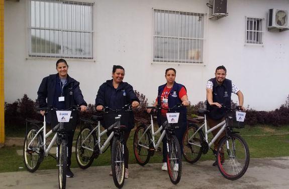 Itajaí: Bicicletas vão auxiliar agentes comunitários de saúde nas visitas domiciliares