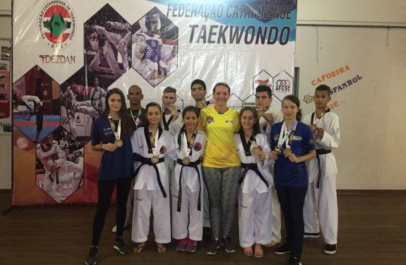 Itajaí: primeiro lugar na seletiva do Catarinense de Taekwondo