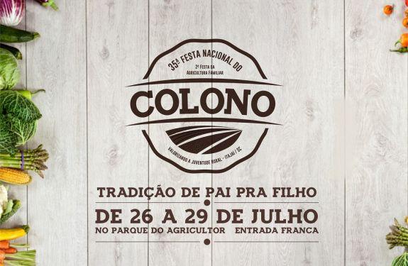Itajaí entra no clima da 35ª Festa Nacional do Colono