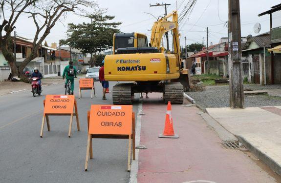Itajaí: Iniciadas as obras de reurbanização da av. Campos Novos