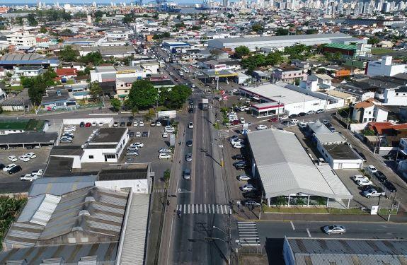 Itajaí: Obra de drenagem marca o início das transformações na Barra do Rio