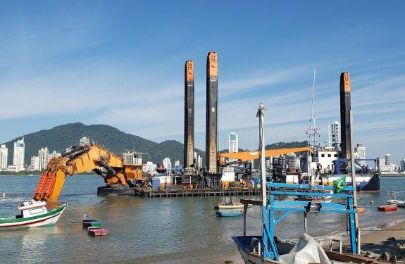 Itajaí: Obras da nova Bacia de Evolução devem encerrar ainda em setembro