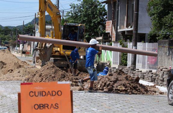 Itajaí: Semasa implanta rede de coleta de esgoto na Murta