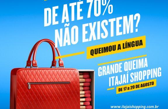 Itajaí Shopping terá produtos com até 70% de desconto