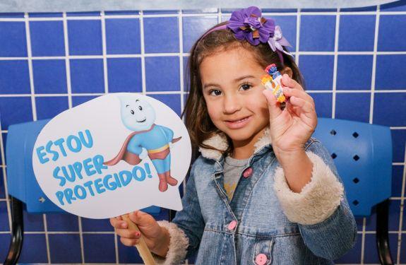 Itajaí ultrapassa 90% de cobertura vacinal contra poliomielite e o sarampo neste sábado (25)