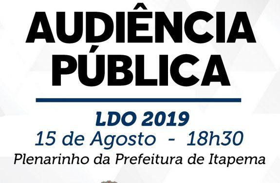 Itapema: Finanças realizará audiência publica da LDO 2019