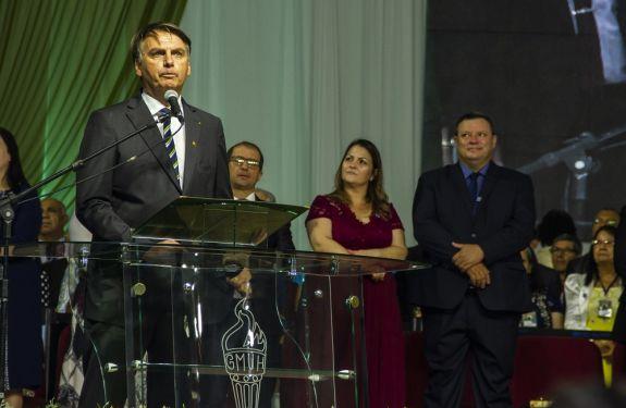 Jair Bolsonaro visita Camboriú para abertura oficial do 37º Congresso de Gideões