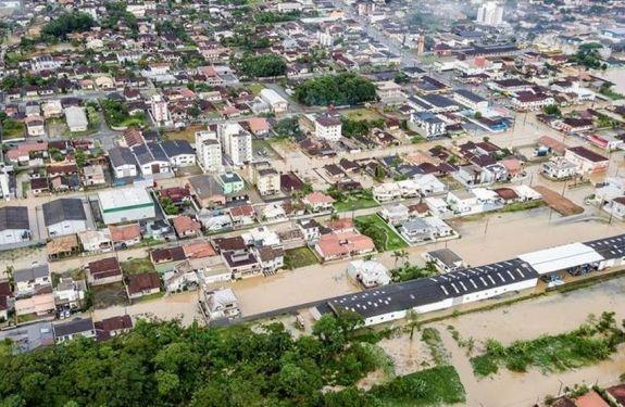 Joinville decreta emergência e calcula prejuízos de R$ 2,3 milhões após chuvas