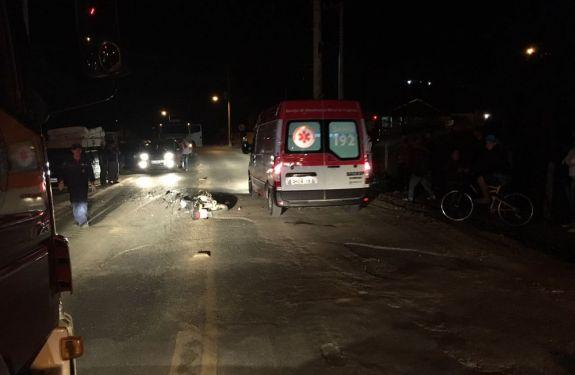 Motociclista morre após bater em caminhonete em Rio do Sul