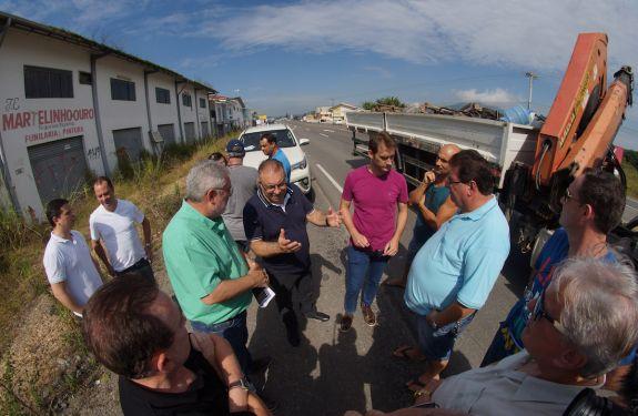Município de Itajaí vistoria obras e solicita ao Estado melhorias na rodovia Antonio Heil