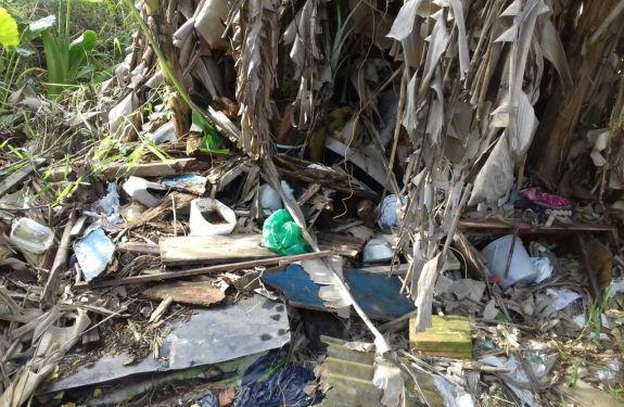 Município realiza ação de limpeza em casa do bairro Cordeiros em Itajaí