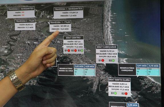 Navegantes recebeu 43 milhões de litros a mais do Semasa