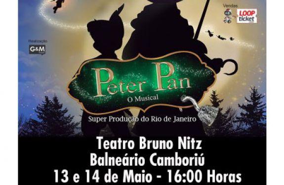 """Neste final de semana tem """"Peter Pan – O Musical"""" no Teatro Municipal Bruno Nitz"""