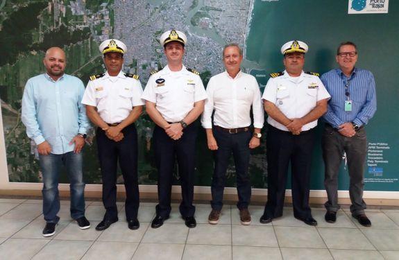 Itajaí: Visita do Com. da Delegacia da Capitania dos Portos