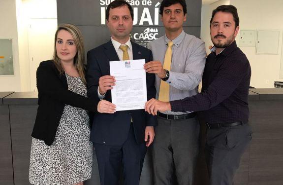 OAB Itajaí pede suspensão da votação do projeto que discute o valor do IPTU