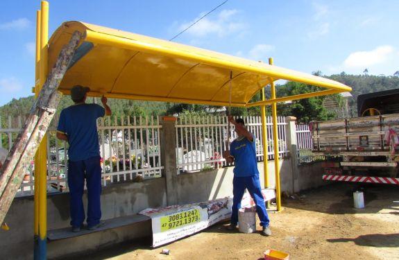 Obras inicia operação de reforma nos abrigos de ônibus em ITJ
