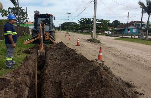 Obras no sistema de abastecimento beneficiam Ervino e Vila da Glória em São Francisco do Sul