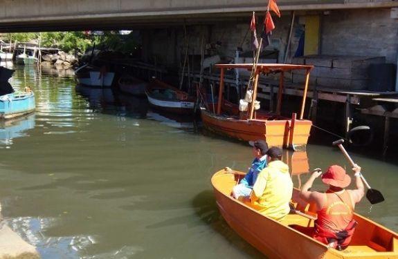 Parte de estrutura do Canal do Marambaia cede próximo à Barra Norte