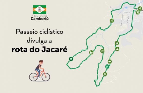 Passeio ciclístico divulga a rota do Jacaré em Camboriú