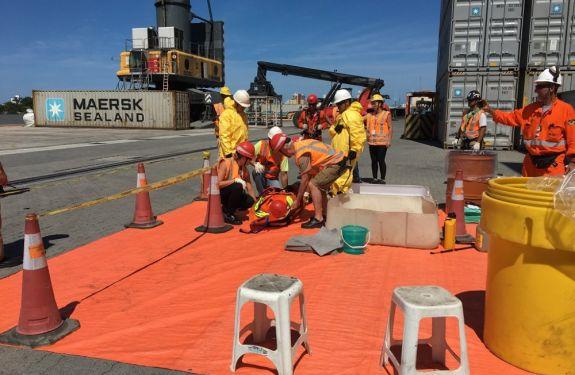 Porto de Itajaí realiza treinamento para Simulado de Emergência