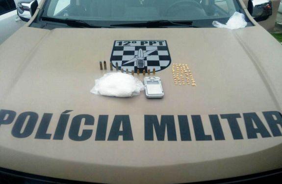PPT encontra drogas e munições em casa abandonada de BC