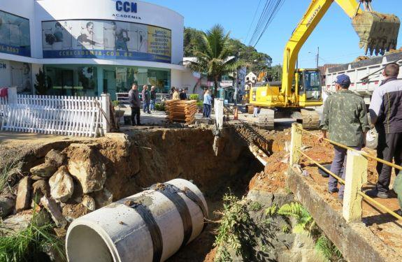 Prefeitura de Brusque dá a largada nas obras de macrodrenagem e pavimentação da Augusto Klapoth