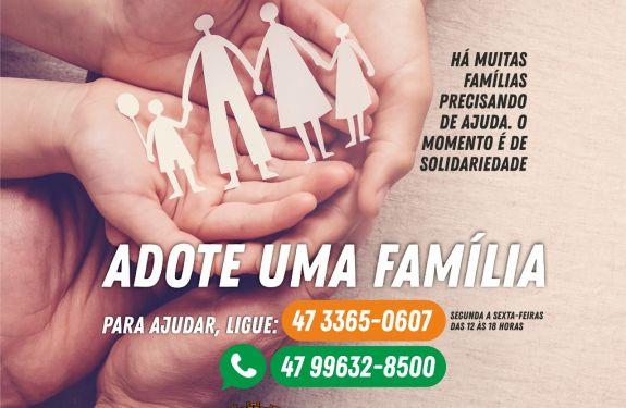 Prefeitura de Camboriú lança a campanha Adote uma família