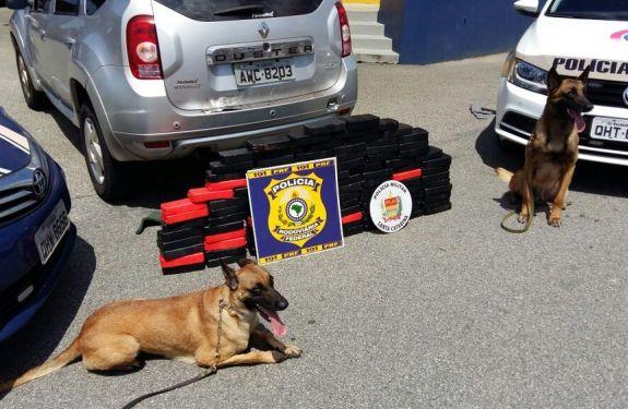 PRF prende em SC policial militar do MS com 104 quilos de crack