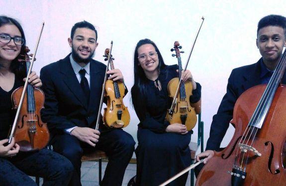 Quarteto de São Joaquim se apresenta na Escola de Música Arte Sonora
