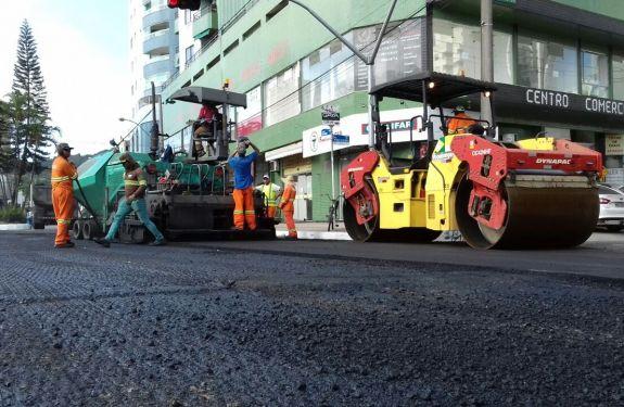 Requalificação das vias segue na Avenida do Estado em BC