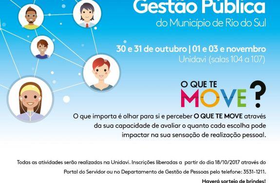 Rio do Sul promove a VII Semana de Gestão Pública